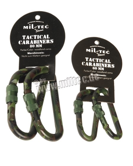 TACTICAL KARABINER WOODLAND 80mm